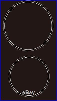PKM Kochfeld Autark Doppelkochfeld Glaskeramik Domino Timer Doppelkochplatte 2