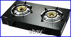 PS-2 Gaskocher 2 flammig 8 KW Glas Propan Campingkocher mit Zündsicherung
