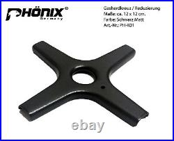 #Phönix 102GBT Gaskochfeld Glas Gaskocher 2 flammig, Guss Wok-Aufsatz +Herdkreuz