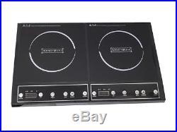 Piastra Induzione 3400w Doppio 2 Zone Piano Cottura Fornello Elettrico. 270°