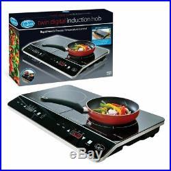 Portable Twin Digital Induction Hob 2800W Rapid Heat & Precise Temp Control