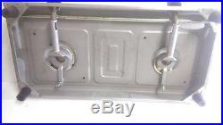 Prestige Stainless Steel 2 Brass Burner Gas Stove Cooktop Hob Lpg Propane Sleek