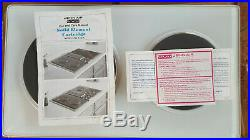 RARE 47 Jenn-Air C316 Downdraft 3 Bay Cooktop White Stainless withElectric Grill