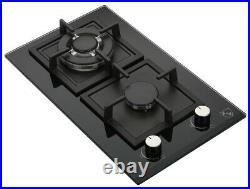 REFURBISHED K&H 2 Burner 12 LPG/Propane Gas Glass Cooktop 2-GCW-LPG