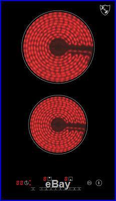 REFURBISHED K&H Domino 2 Burner 12 Electric Ceramic Cooktop 220V CERV-3002