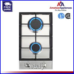 Refurbished Gasland Chef GH30SF Built-in Gas Stove Top 12'' With 2 Sealed Burner