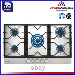 Refurbished Gasland Chef GH90SF Built-in Gas Stove Top With 5 Sealed Burners