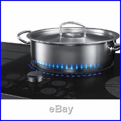 Samsung 36 Black Stainless Steel Induction Cooktop with Flex Zone NZ36K7880UG