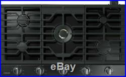 Samsung Gas Cooktop 5 Burners Built In Stainless Steel NA36K7750TG Black 36