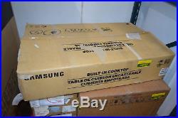Samsung NZ36K7880UG 36 Black Stainless Induction Cooktop NOB #24733