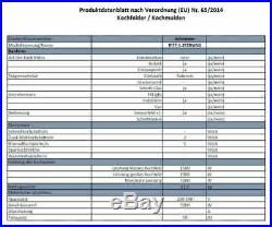 Schneider Induktionskochfeld 80cm autark 2 Flexzonen 5 Kochfelder BBQ Wok Timer