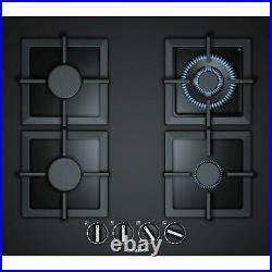 Siemens EP6A6HB20 iQ500 60cm Four Burner Gas-on-glass Hob Black