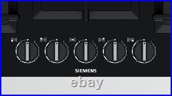 Siemens EP7A6QB90 Bulit-in 75cm Gas Kitchen Hob Black Glass NEW