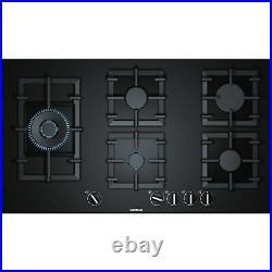 Siemens EP9A6SB90 iQ500 90cm Five Burner Gas On Glass Hob Black EP9A6SB90
