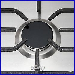 Silver 30 COOKTOP Steel Built-in 5 Burner Stoves LPG/NG Gas Hob Cooktops Cooker
