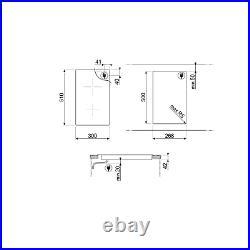 Smeg SE232TD 30cm Straight Edge Glass Ceramic Hob with Touch Controls