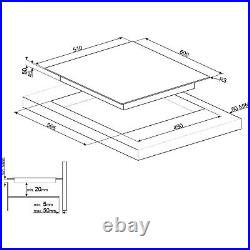 Smeg SE264TD 60cm 4 Zone Straight Edge Glass Ceramic Hob with Touch Cont SE264TD