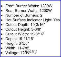 Summit CR2110 Electric 2 Burner Ceramic Cooktop REDUCED