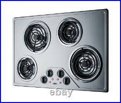 Summit CR430SS Stainless Steel 30W Ada Compliant Built-In Electric Cooktop