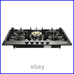 TOP 30 Stainless Steel 5 Burners Built-In Stove Cooktop Gas NG/LPG Hob Cooker