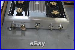 Thermador PCG364GD 36 Stainless Pro-Style Gas Rangetop NOB #27693 HL