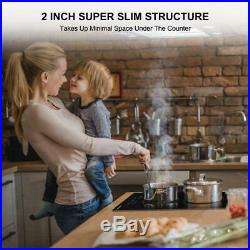 Thermomate 12'' Built-in Radiant Electric Stove Top with 2 Burners, 240V