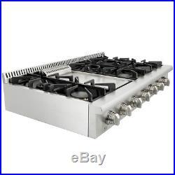 Thor Kitchen 48inch Range Stove Griddle Stainless Steel 6 burner Range Top New
