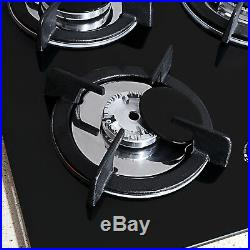 Top 30 Tempered Glass Built-in Kitchen 5 Burners Stove NG/LPG Gas Hob Cooktops