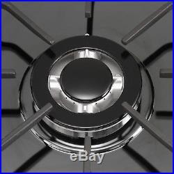 USA 30inch Titanium 5 Burner Built-in Stoves LPG/NG Gas Hob Cooking Cooktops