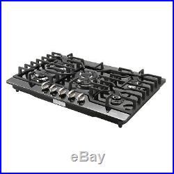 USA Black Titanium 30 Built-in 5 Burner Stoves LPG/NG Gas Hob Cooktops