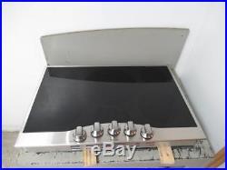 Viking 30 5 Burner Black and Stainless Electric Ceramic Cooktop RVEC3305BSB