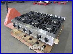 Viking 36 Professional Series Stainless 6-burner Rangetop Cooktop Lp Gas