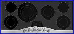 Viking 45 6-Burner Electric Glass Ceramic Surface Cooktop Black RVEC3456BSB
