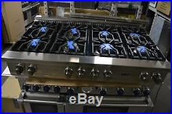 Viking 48 Stainless Steel Pro Style Natural Gas 8 Burner Rangetop VGRT5488BSS