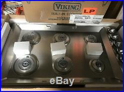 Viking Built-In 5 Series 36 Gas Cooktop VGSU5366B