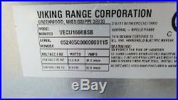 Viking Pro-style Vecu1666bsb 36 Electric Cooktop, 6 Burner
