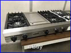 Viking Professional 36 Natural Gas Or Propane Burner Cooktop with Center Grill