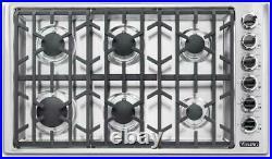 Viking Professional 5 Series 36 Inch SS 6 Burners Gas Cooktop VGSU53616BSS