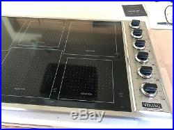 Viking Professional VICU1656BSB 36 Stainless / Black Electric Induction Cooktop