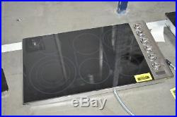 Viking VEC5366BSB 36 Stainless 6 Burner Electric Cooktop NOB #31017 CLW