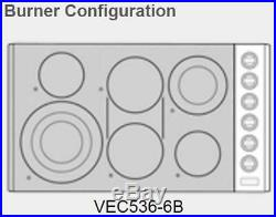 Viking VEC5366BSB 36 Stainless 6 Element Electric Smoothtop Cooktop