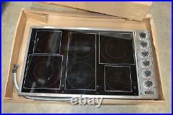 Viking VECU1666BSB 36 Smoothtop Electric 6 Burner Cooktop #513 MAD