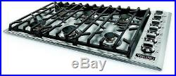 Viking VGSU5366BSS Professional 5 Series 36 Inch Gas Cooktop Stainless Steel