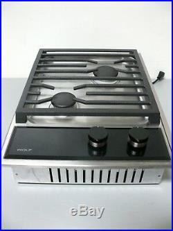 WOLF CG152TF/S Built-In 15 Transitional Gas Cooktop with Dual-Stacked Burners