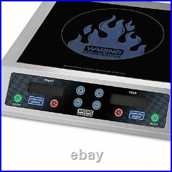 Waring WIH800 Step Up Double Induction Cooktop 208/240V NSF 1 Year Warranty