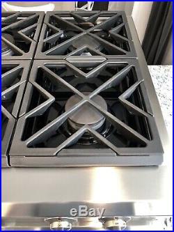 Watch Testing On YouTube, GE Monogram 36 6-Burner Rangetop Cooktop 17,000 BTU
