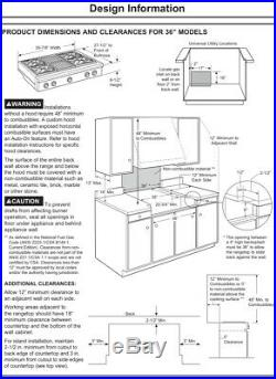Watch Testing on YouTube 36 GE Monogram Rangetop Cooktop Stove (Nat. Gas)