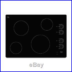 Whirlpool 30' Electric Cooktop W5CE3024XS- Black