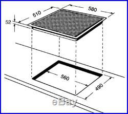 Whirlpool Induktionskochfeld 60cm mit Automatik 4 Zonen Induktion 60cm Timer
