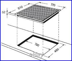 Whirlpool Induktionskochfeld 77cm Flexi autark Timer Slider Flex 80cm Booster 4x